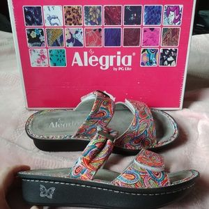ALEGRIA carina sandals in Woodstock Rain
